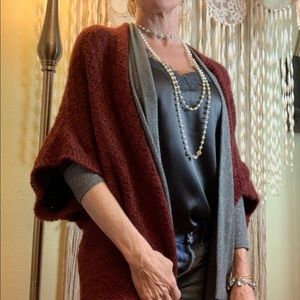 Erica Tanov Kimono Style Baby Alpaca Sweater O/S